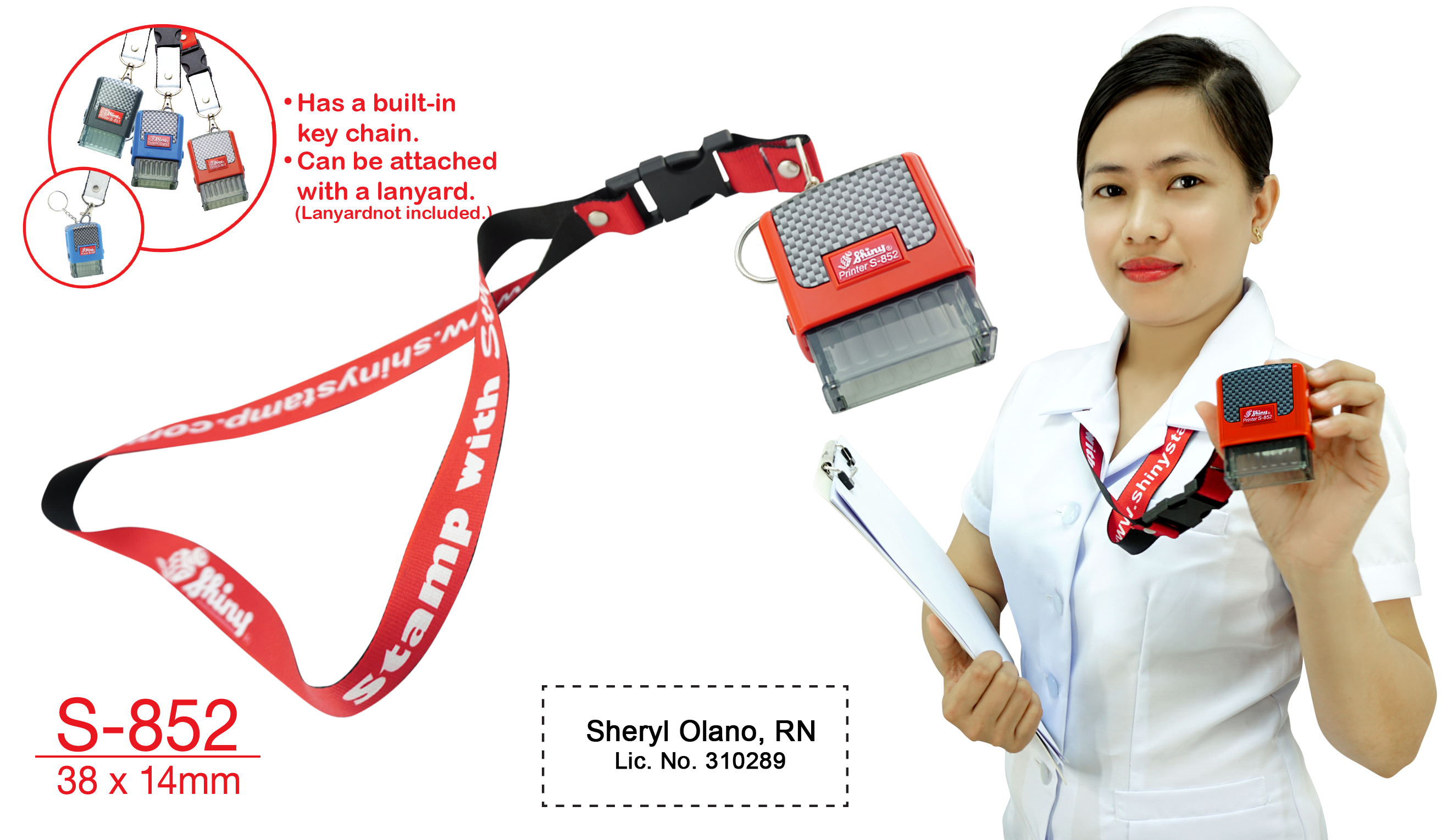 s-851 stamp with lanyard