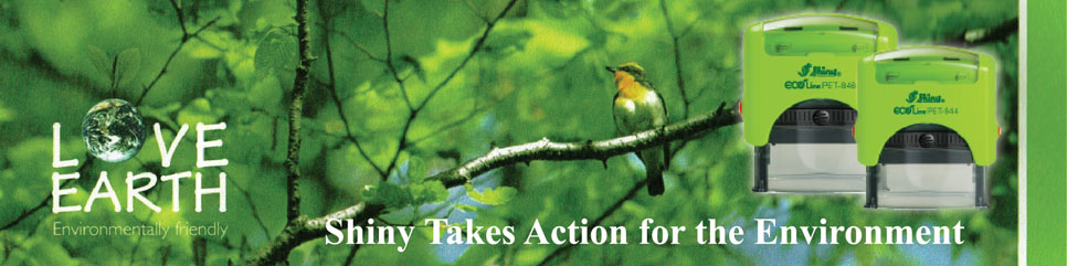 Shiny Stamp take action to the environment